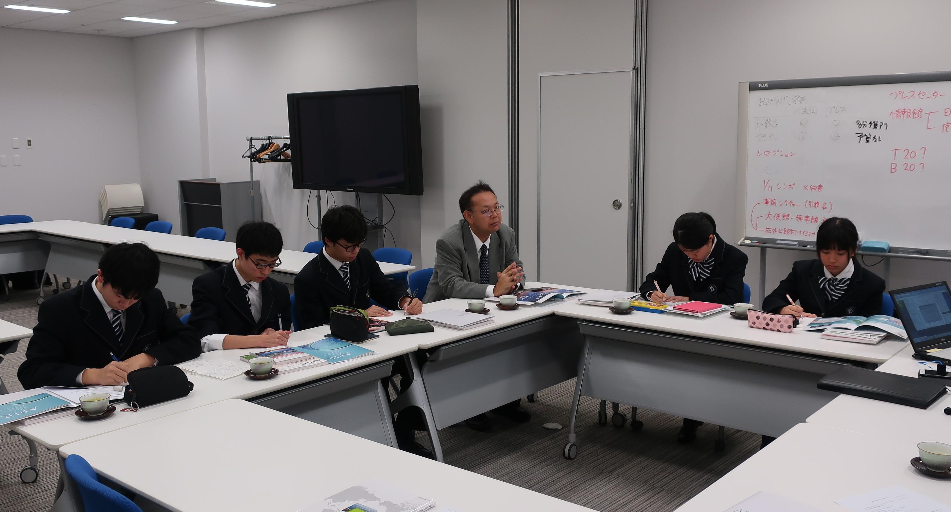 関西大学高等部がご来訪